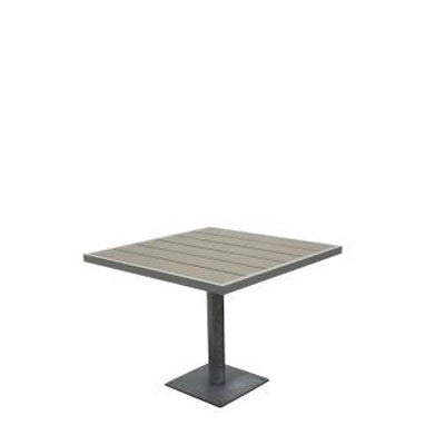 Square Aluminum Dining Table