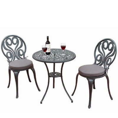 Sunset Swirl Aluminum Bistro Set
