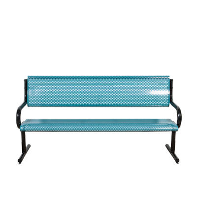 6' Perforated Metal BENCH