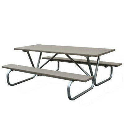 6' Greenwood Picnic Table Metal base
