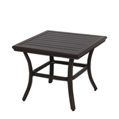 24x24 Square Slat Side Table