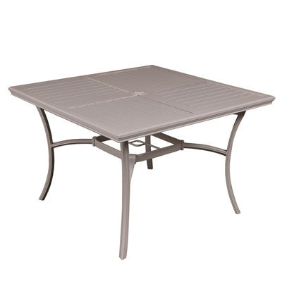 "42"" Square Aluminum Slat Table"