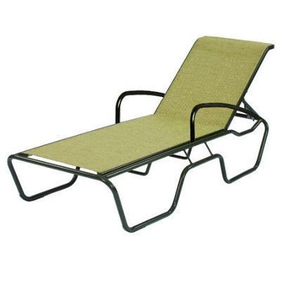 Sanibel Sling Chaise Lounge Arms