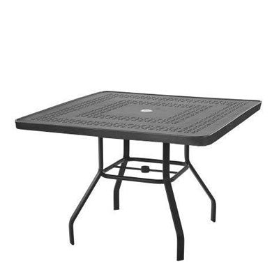 "42"" Punched Aluminum Table"