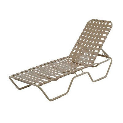 Country Club Chaise Lounge Cross Weave