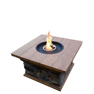 Faux Stone and Wood Fire Pit