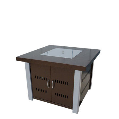 Propane Fire Pit Bronze and Stainless