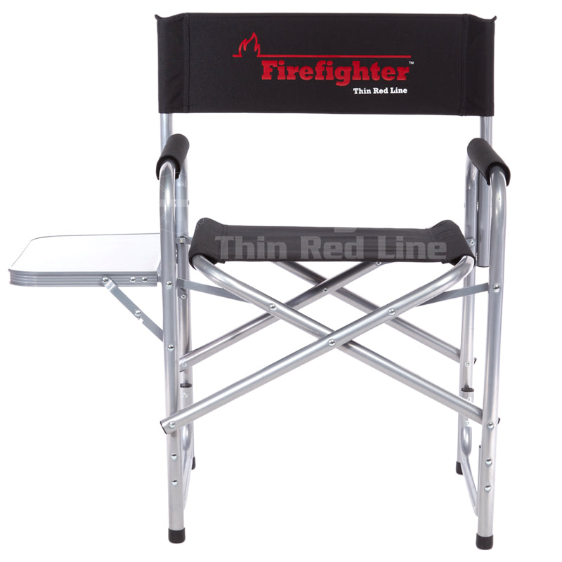 Heavy-Duty Firefighter Flame Folding Chair (400 pounds)