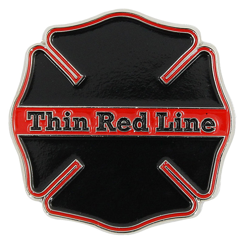 Firefighter Thin Red Line Challenge Coin