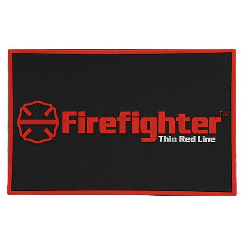 Firefighter Red Line Maltese Cross Patch