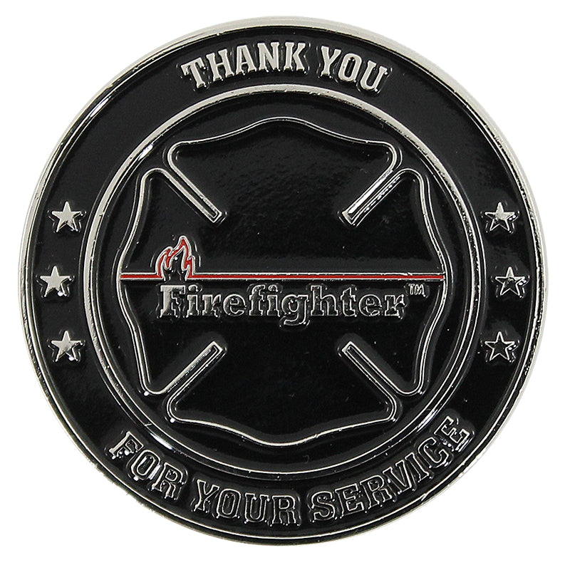 Fire Rescue Thin Red Line Challenge Coin