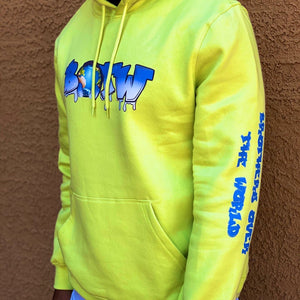 LIGHT NEON YELLOW FITTED HOODIE
