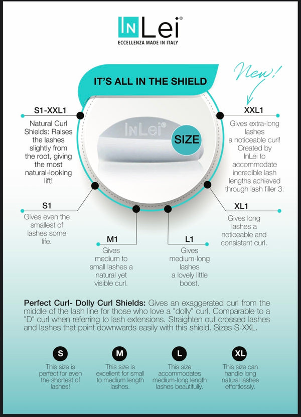 """TOTAL"" - 8 Different Sizes of Silicon Shields (Lash Lift)"