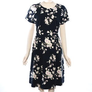 Patch Ladies Short Sleeve Floral Printed Dress