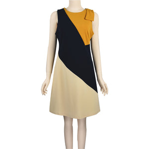 Patch Ladies 3 colour Sheath Sleeveless Dress with Bow