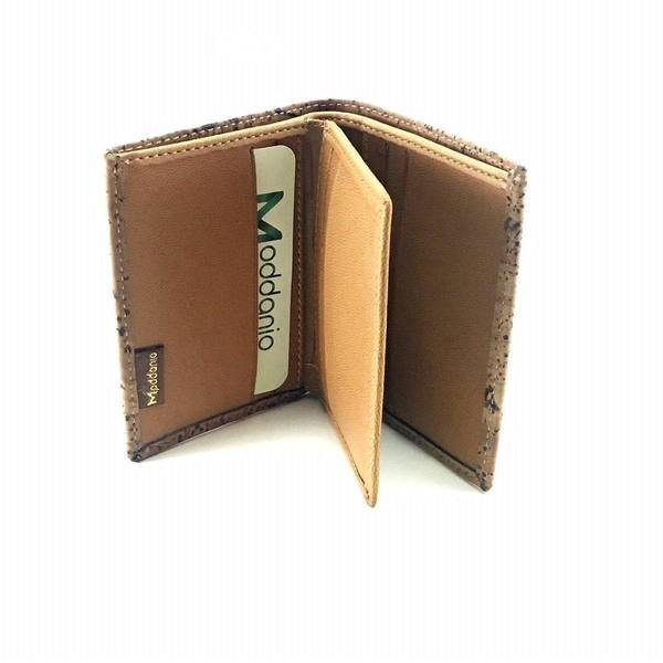 Cork and Vegan Leather Bifold Card Holder