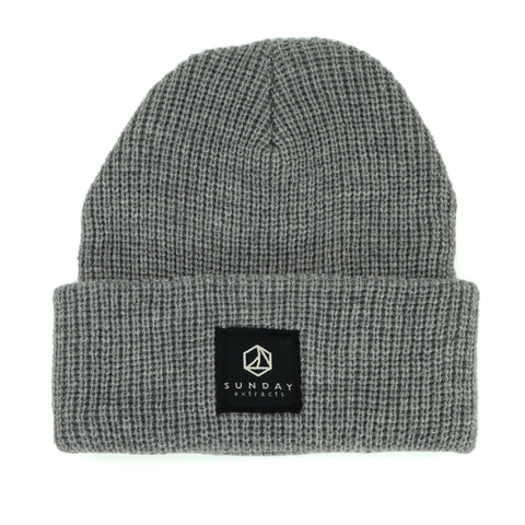 Light Gray Sweater Knit Beanie