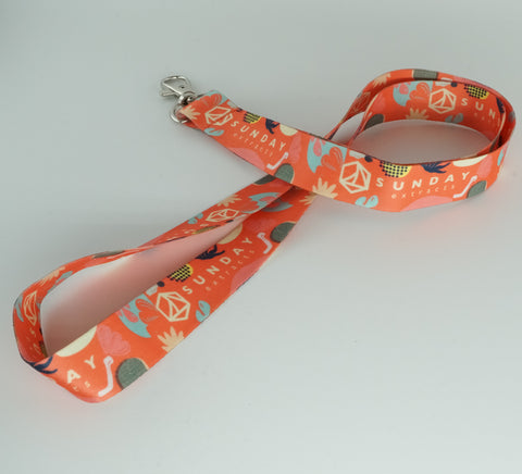 Orange Tropical Lanyard