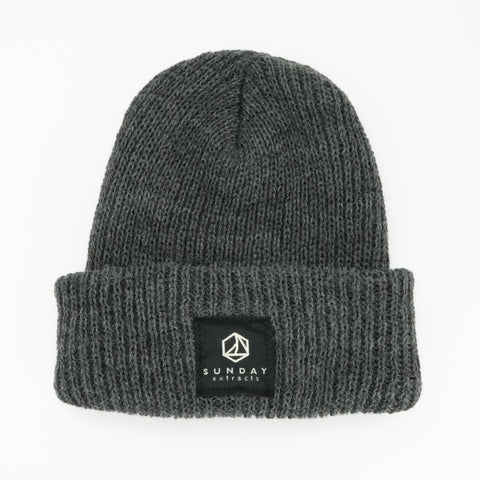 Dark Gray Sweater Knit Beanie