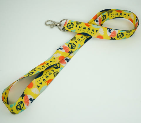 Yellow Tropical Lanyard