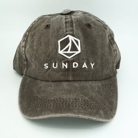 Dad Light Brown Denim Logo + Sunday Extracts