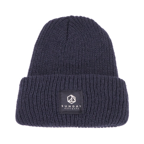 Navy Sweater Knit Beanie