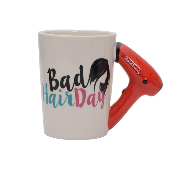 Bad Hair Day- Hairdryer Design Coffee Mug - Art Galore®