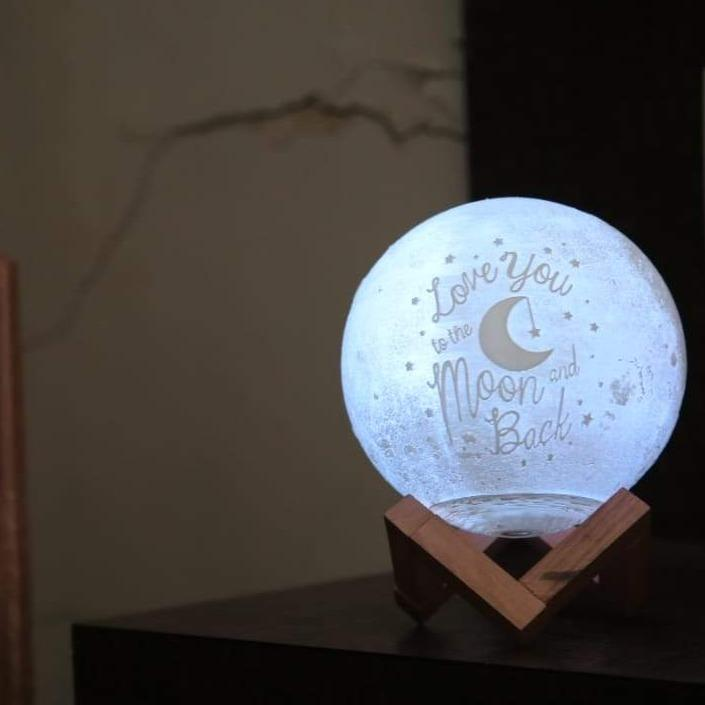 3D Photo Print Personalised Moon Lamp (Multicolor in One) - Art Galore®