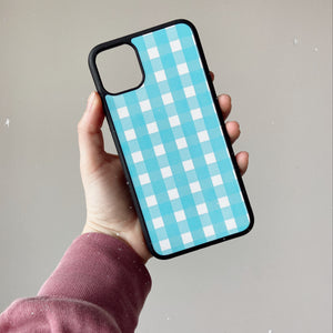 Blue Gingham Phone Case