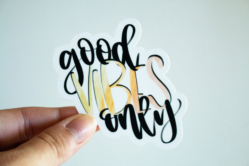 Good Vibes Only - Sticker
