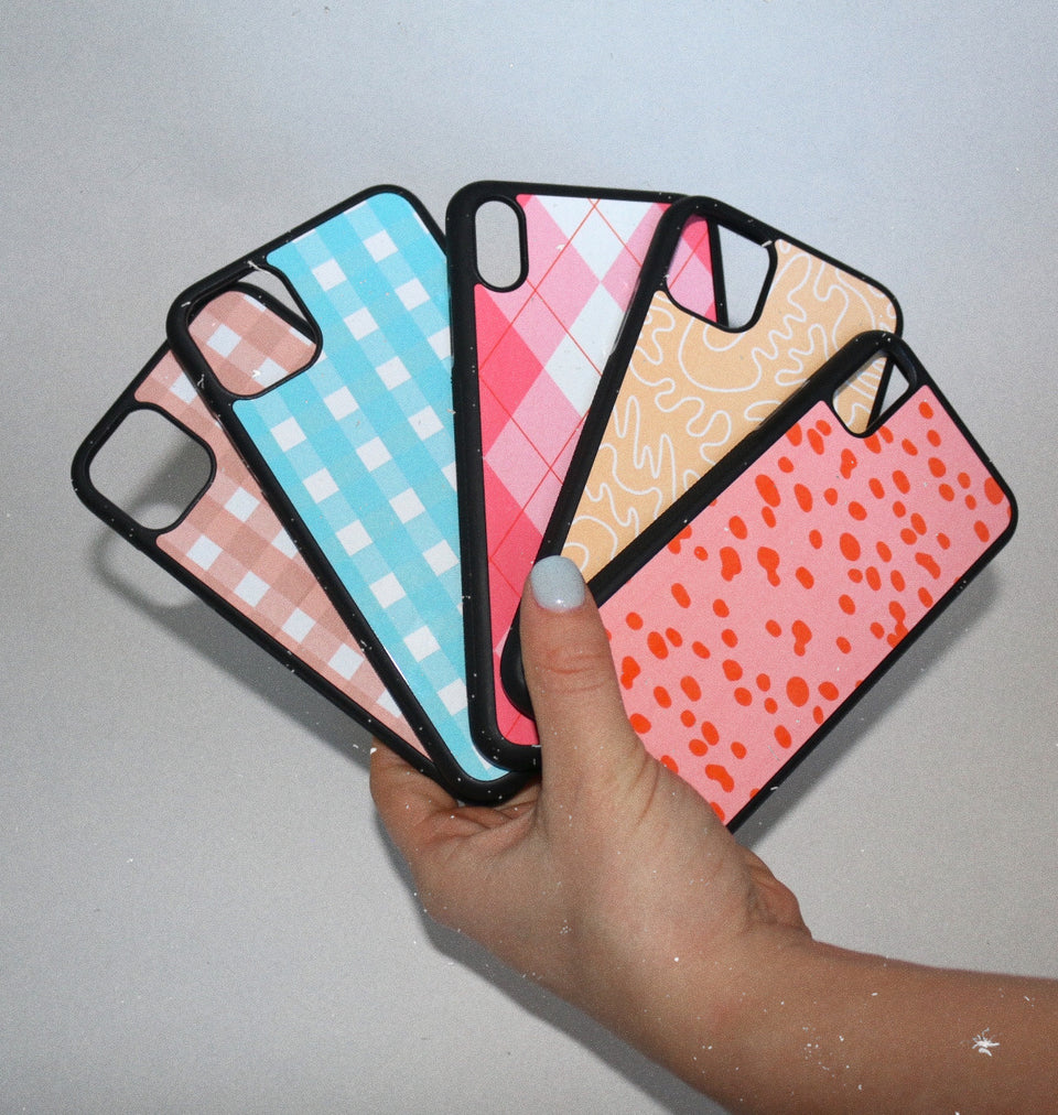 Pink Argyle Phone Case