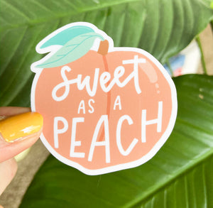 Sweet As A Peach - Sticker