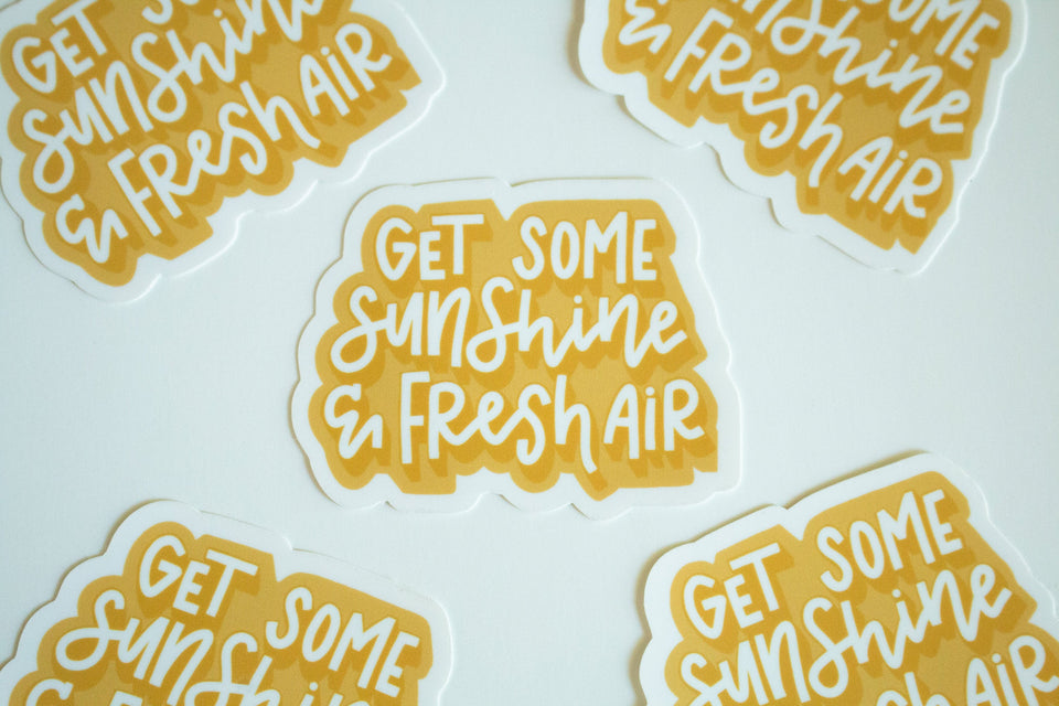 Sunshine and Fresh Air - Sticker