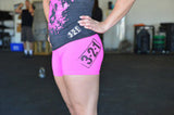 Women's CrossFit-style Shorts (Pink)---321 Apparel