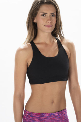 Black CrossFit-style Workout Bra from WODGear