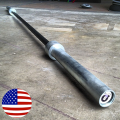 Black Zinc 20kg CrossFit barbell (feature)--- Bomba Gear
