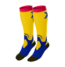 StrongerRx Recovery CrossFit-themed Socks (Yellow)
