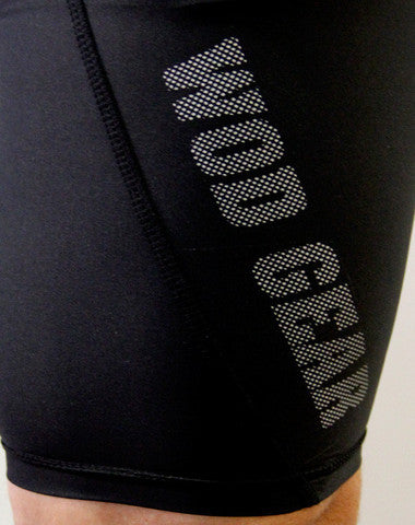 Men's CrossFit-style Compression Shorts ---WOD Gear (closeup)