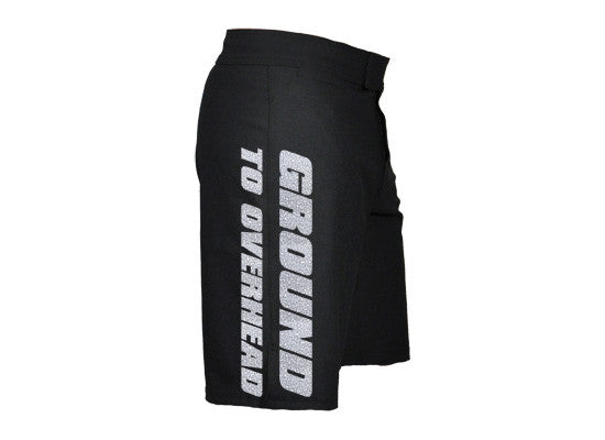 Crackle Print CrossFit-themed Shorts (black) --- G2OH