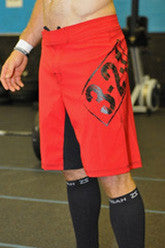 Men's WOD Shorts ---321 Apparel (red)