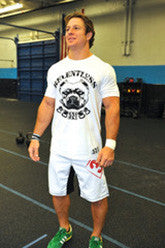 Relentless Pitbull Men's Workout t-shirt---321 Apparel (White)