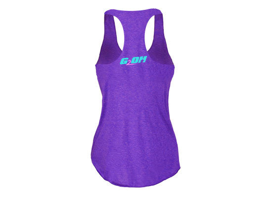Eat Clean Train Dirty women's CrossFit-themed tank tops (purple ---back) --G2OH