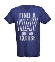 Find A Way Not An Excuse Men's CrossFit-style T-shirts from G2OH