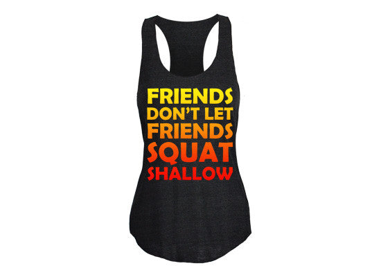 Squat Shallow Women's CrossFit-style tank tops from G2OH (black)