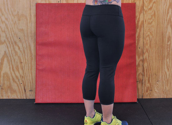Black G2OH CrossFit-style Capris  (Back)