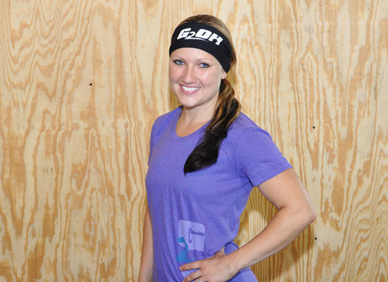 G2OH CrossFit-style Headbands (Black/White --In Use)