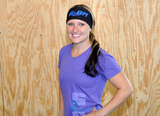 G2OH Workout Headbands  (Aqua Headbands--In Use)
