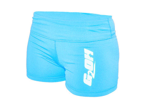 G2OH Women's Tight CrossFit-style Shorts (Blue)