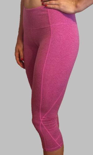 Heather Fuchsia CrossFit-style Capri Pants from Born Primitive