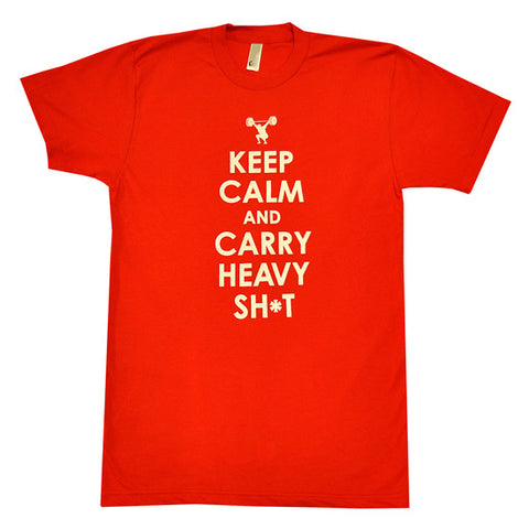 Keep Calm Men's CrossFit-style t-shirt ---Anfarm Gear